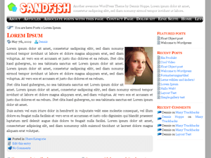 Sandfish free wordpress theme