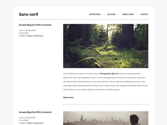 Sans-serif wordpress theme