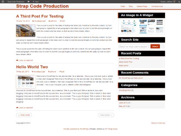 Santra free wordpress theme