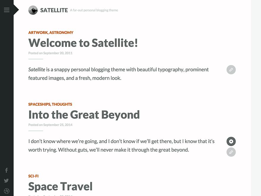 Satellite free wordpress theme