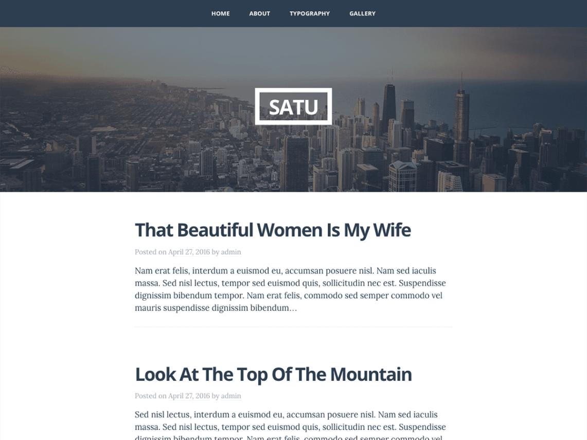 Satu — Free WordPress Themes