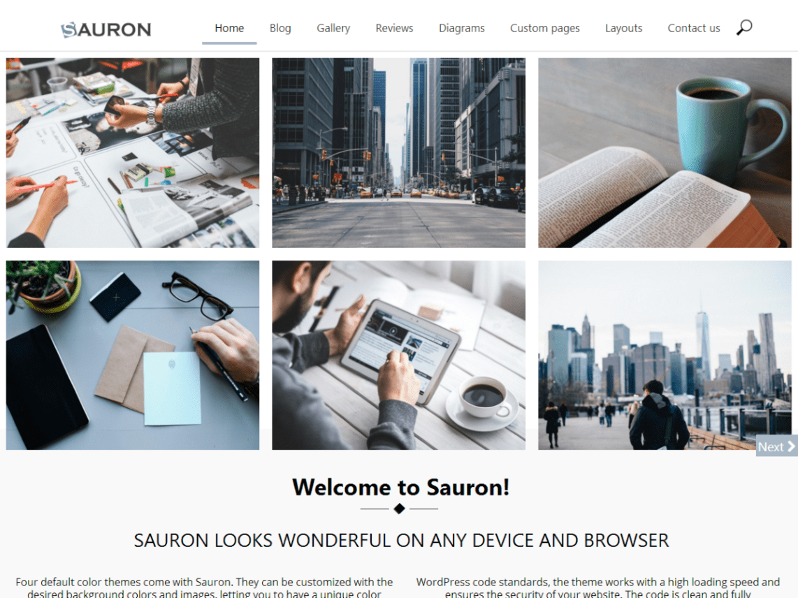 WordPress Theme Sauron