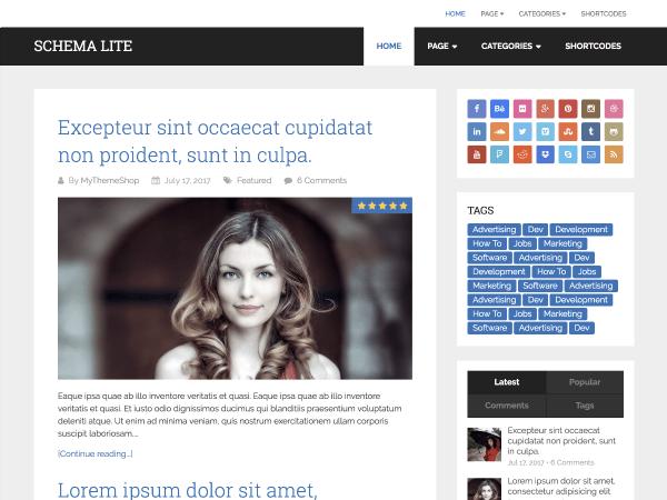 Schema Lite — Free WordPress Themes