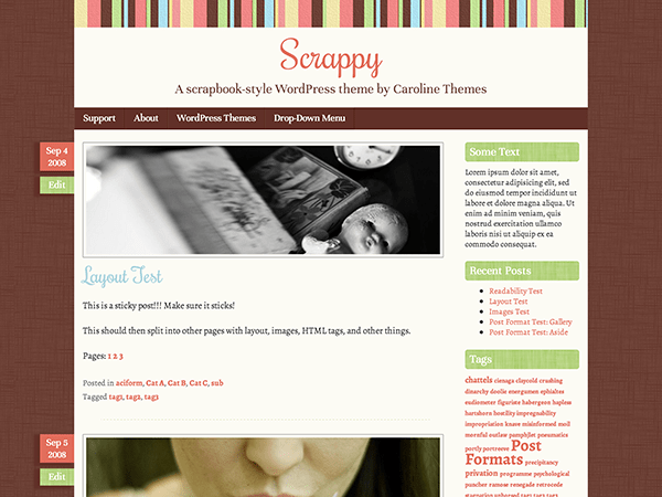 Scrappy free wordpress theme