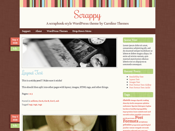 Scrappy wordpress theme