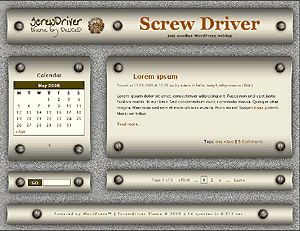 screwdriver free wordpress theme