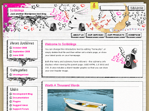 Scribblings free wordpress theme