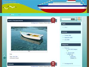 Sea Cruise free wordpress theme