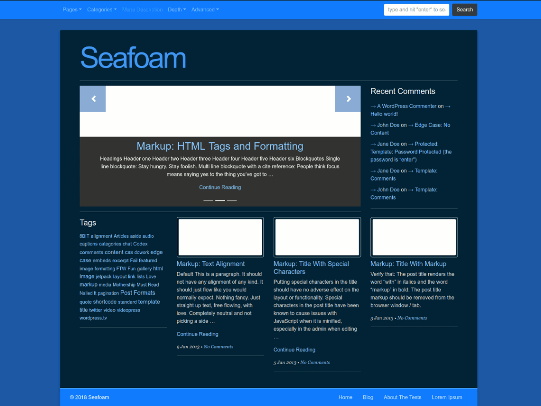 Seafoam - WordPress theme | WordPress org
