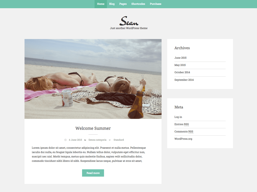 Sean Lite free wordpress theme