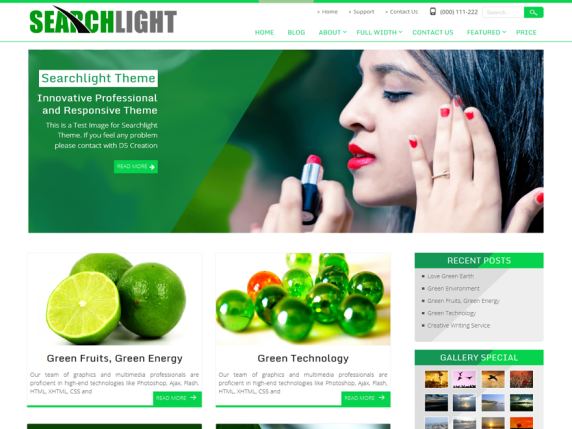 Searchlight wordpress theme
