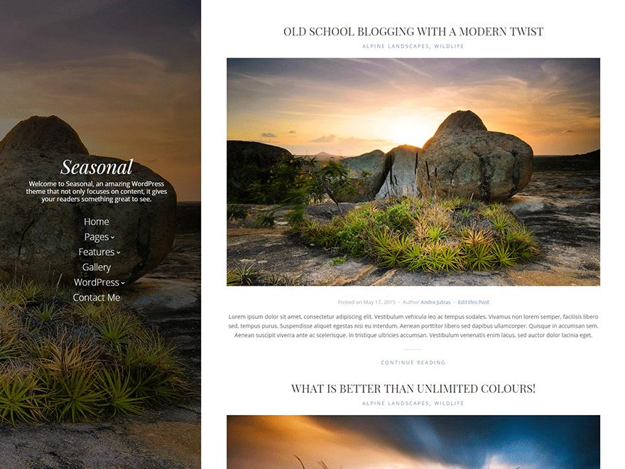 Seasonal free wordpress theme