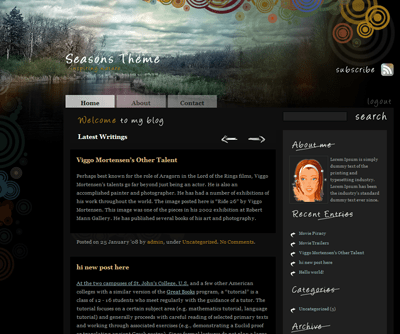 Seasons Theme (Autumn) free wordpress theme