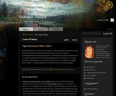 Seasons Theme (Autumn) wordpress theme