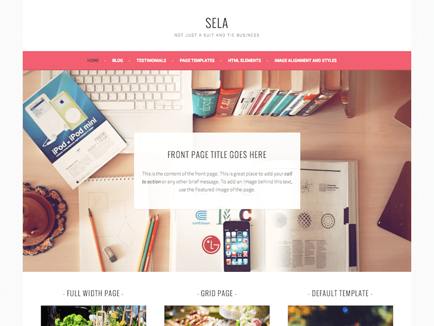 Sela wordpress sela is not your typical business theme vibrant bold and clean with lots of space for large images this theme will look great on all devices wajeb Gallery
