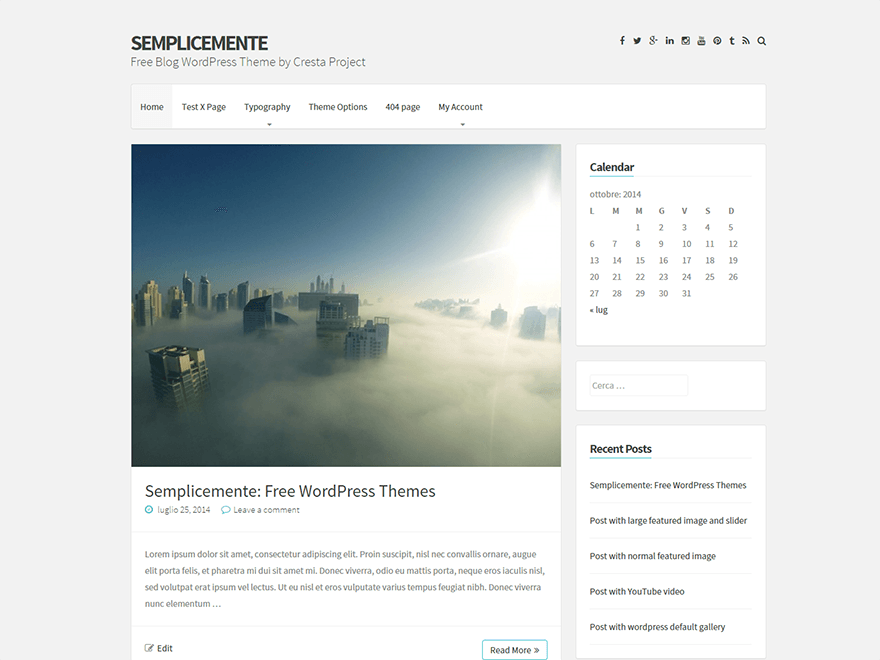 Semplicemente free wordpress theme