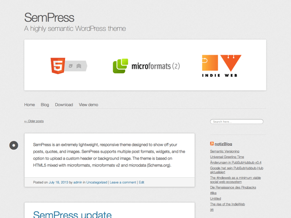 SemPress free wordpress theme