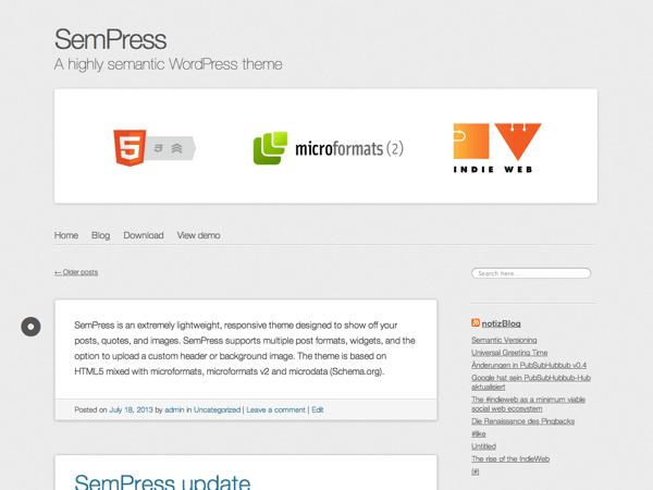 SemPress theme wordpress gratuit