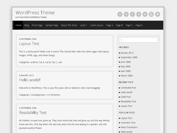 Semprul free wordpress theme