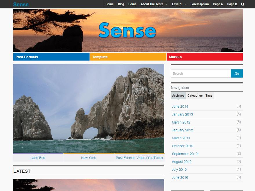 Sense theme wordpress gratuit