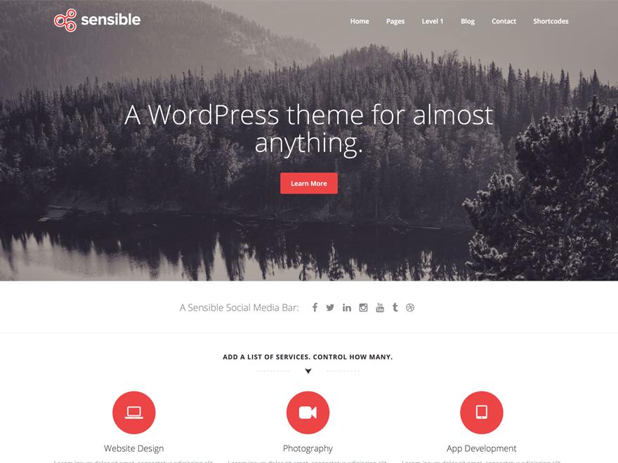Sensible - Free WordPress Theme