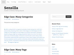 Sensilla free wordpress theme