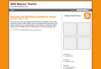 SEO Basics wordpress theme