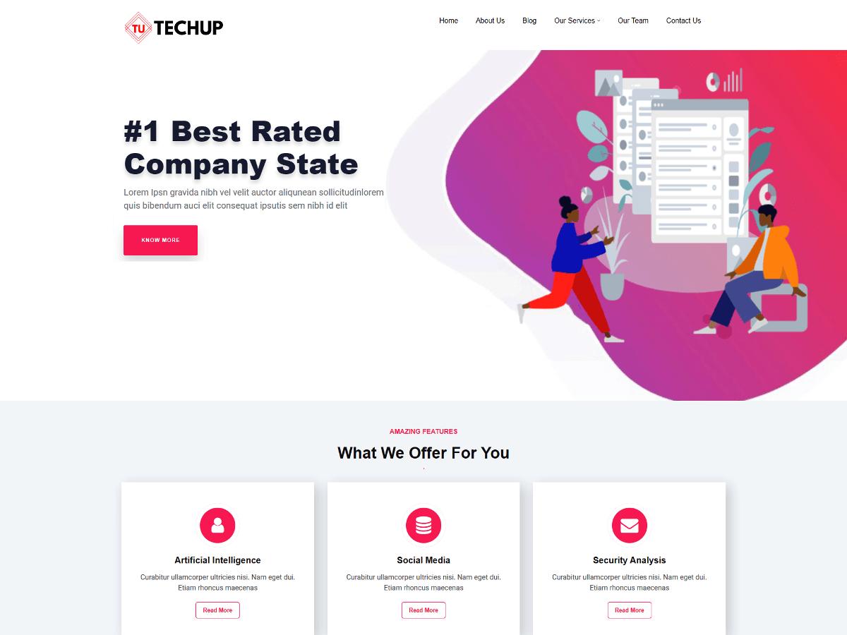 WordPress主题:SEO Techup