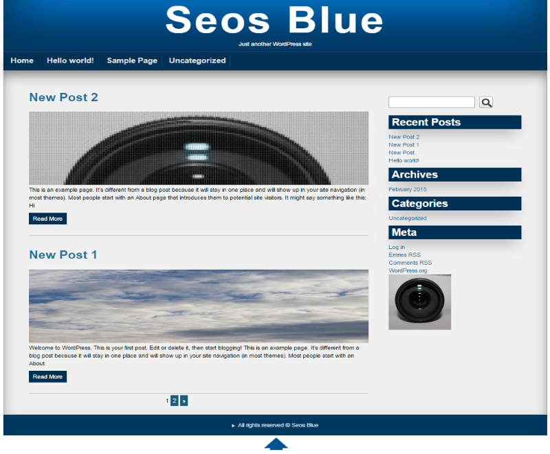 Seos Blue free wordpress theme