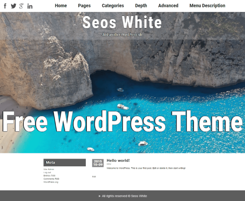 Seos White free wordpress theme