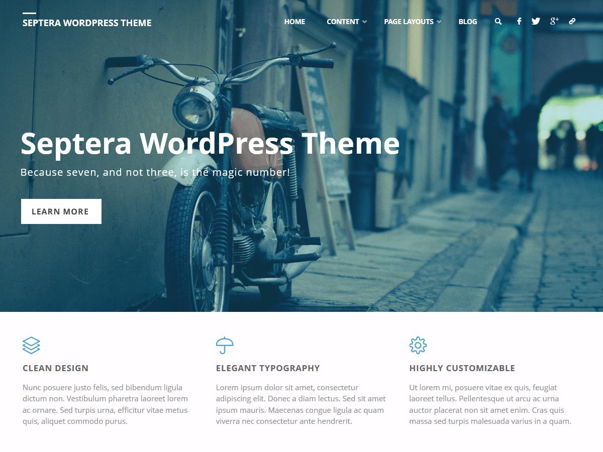 WordPress тема: Septera