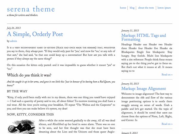 Serena theme wordpress gratuit