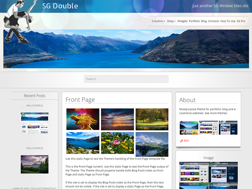 SG Double free wordpress theme