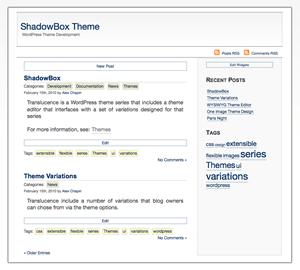 ShadowBox free wordpress theme