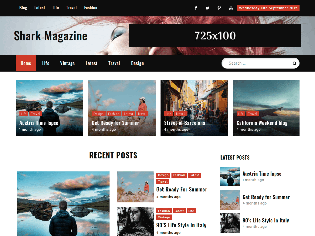 WordPress主题:Shark Magazine