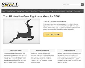 Shell Lite wordpress theme