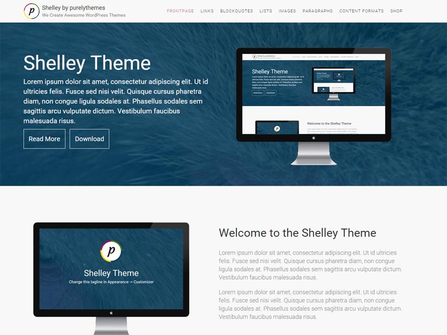 shelley theme wordpress gratuit