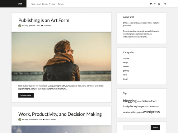 Shift | WordPress.org