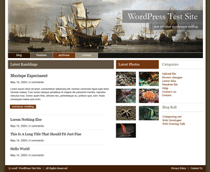 Ships Ahoy! free wordpress theme