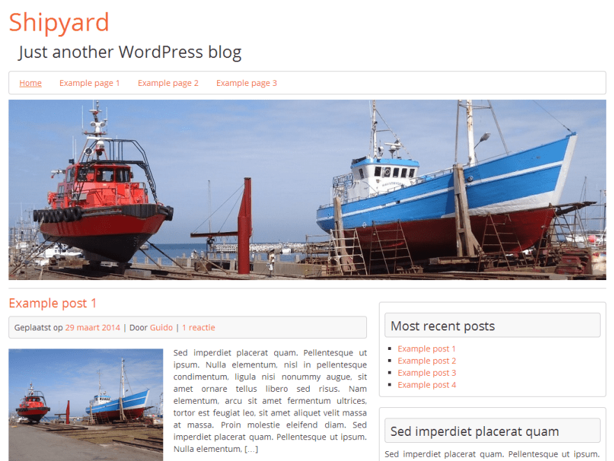 Shipyard free wordpress theme