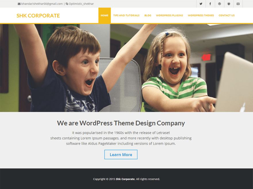 Shk Corporate free wordpress theme