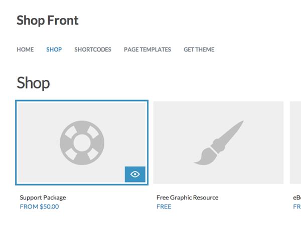 Shop Front theme wordpress gratuit
