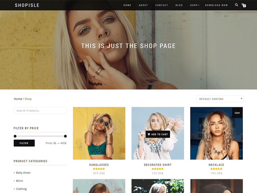 demo of Shop Isle WordPress theme