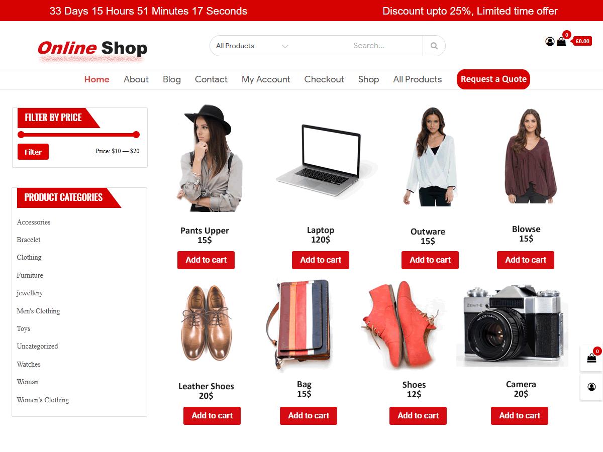 WordPress主题:Shop Online