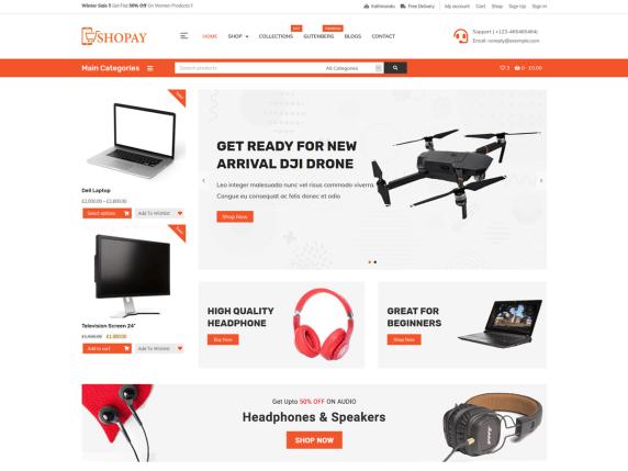 Shopay Digital Store WooCommerce Theme