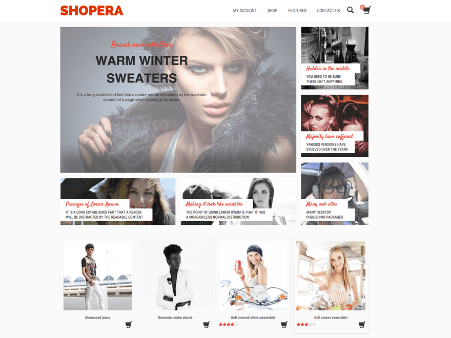 Shopera free wordpress theme