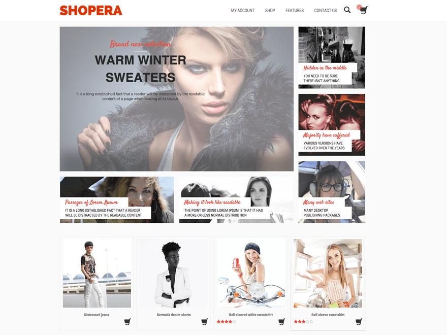 Shopera wordpress theme