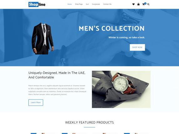 Shopline Free E-commerce WordPress Theme
