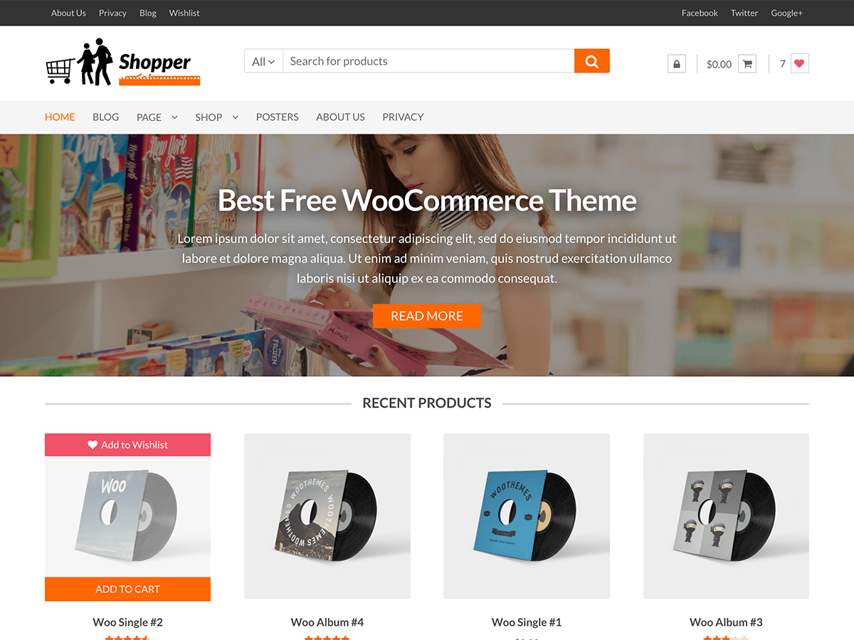 Shopper - WordPress theme | WordPress org