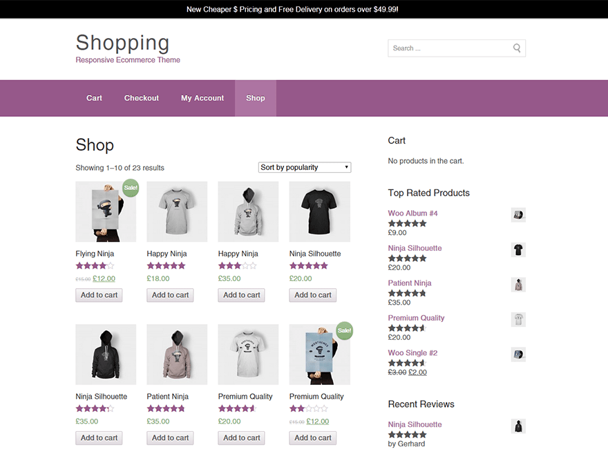 Shopping free wordpress theme